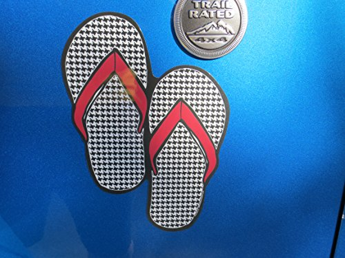 Hounds Tooth Flip Flops Magnet By Mad ()