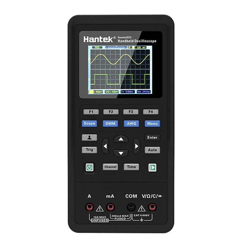 UHAoo 3 en 1 osciloscopio Digital//generador de Forma de Onda del mult/ímetro Herramienta Medidor de Prueba de Pantalla USB port/átil de 2 Canales LCD