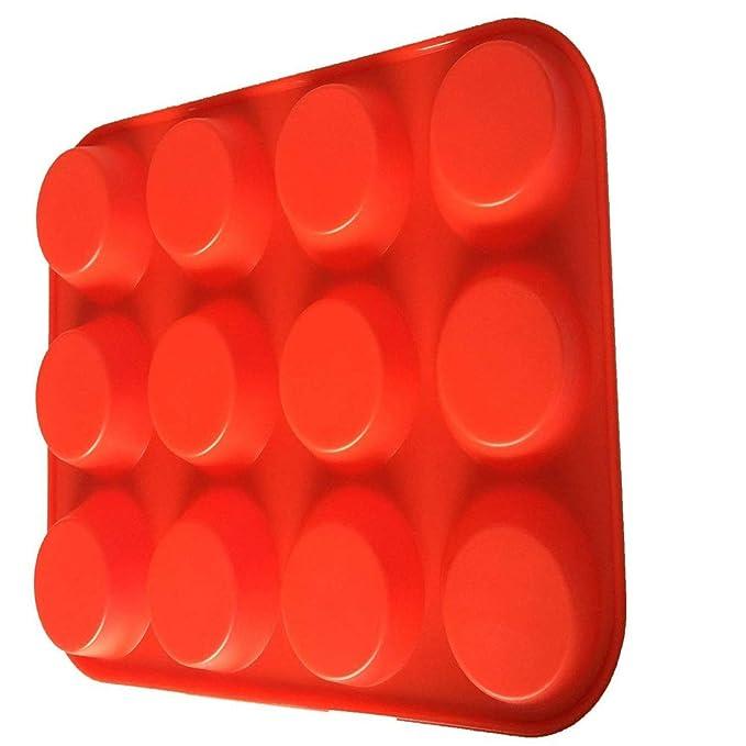 ... pan/antiadherente molde de silicona/horno-microondas-lavaplatos seguro seguro mejor alimento grado huevo Muffin lata hornear moldes: Amazon.es: Hogar
