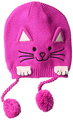Kidorable Little Girls'  Lucky Cat Hat, Magenta Pink, One Size