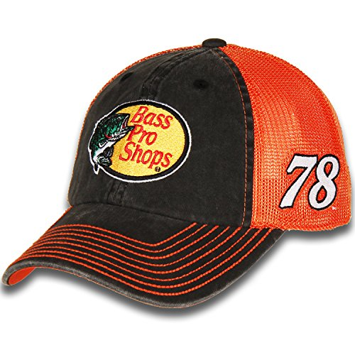 Martin Truex Jr #78 Bass Pro Shops Nascar 2018 Sponsor Trucker Mesh Hat / Cap Checkered Flag Nascar Racing Cap