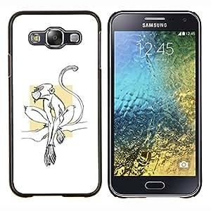 EJOOY---Cubierta de la caja de protección para la piel dura ** Samsung Galaxy E5 E500 ** --mono lindo minúsculo blanco limpio minimalista
