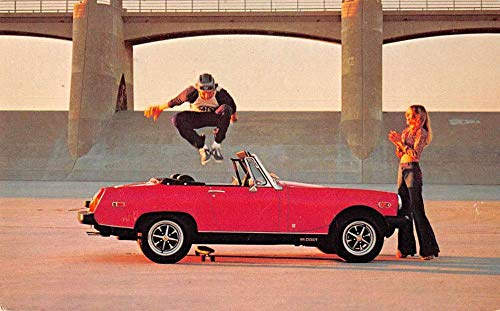 MG Midget Skateboard Auto Advertising Vintage Postcard JA4741461