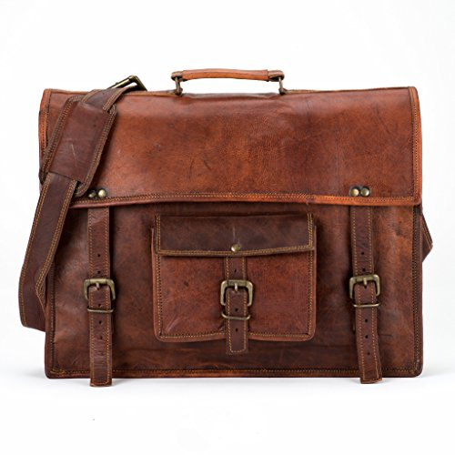 LUST Vintage Leather Laptop Messenger Bag 13'' by LUST
