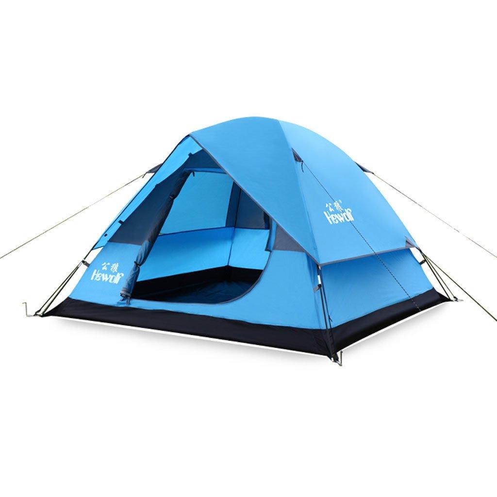 Doppel Outdoor-Camping-Zelt 3-4 Personen Camping Kuppelzelt Strandzelt mehr Luftverteidigung Regensturm 3-4 Personen eine Vielzahl von Anwendungen
