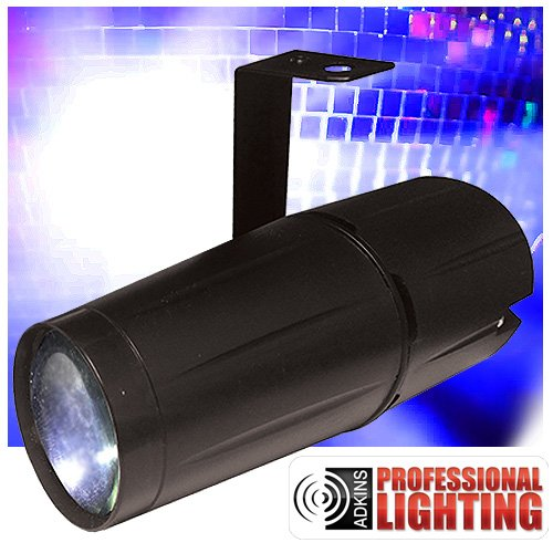 LED Pinspot - 5 Watt - Light up your Mirror Balls with this High Power Super Bright Pinspot LED by Adkins Professional Lighting