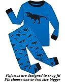 Little bety 100% Cotton Boys Girls Dinosaur Pajamas Toddler Pjs Kids Sleepwear Pants Sets 12t