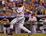 "Charlie Blackmon Colorado Rockies Autographed 8"" x 10"" White Hitting Photograph - Fanatics Authentic Certified"