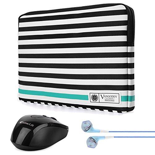 Vangoddy Luxe B Series Black White Stripe 15.6 Inch Lightwei