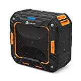 iClever Portable Bluetooth Speakers with Enhanced Bass, 12-Hour Playtime, Aux-in Port, IPX7 Waterproof, Shockproof, Wireless Outdoor Speakers for Beach, Biking, Shower, Home, Orange