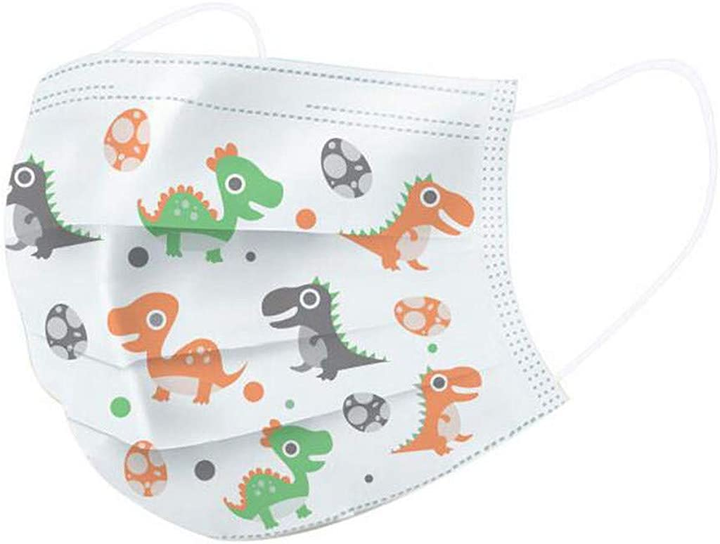 Pamilk Delivery Time 5-10 Day,50PC Childrens Bandanas Disposable Face Bandanas Industrial 3Ply Ear Loop White