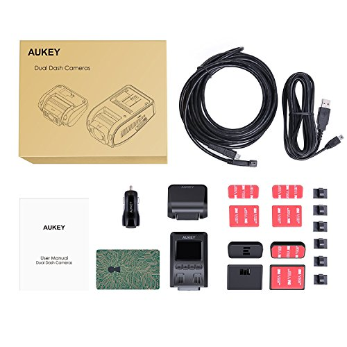 aukey dual dash cam 1080p hd front and rear camera 6. Black Bedroom Furniture Sets. Home Design Ideas