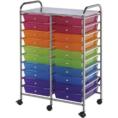 Blue Hills Studio SC20MCDW Storage Cart 20-Drawer (Standard) Multi-Colored