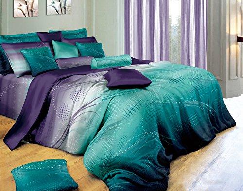 A Pair of Euro Shams (Twilight) - Purple Bedding