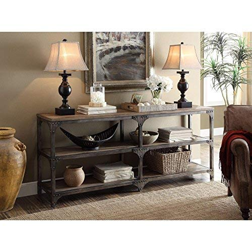 "Acme Gorden 70"" Server, Weathered Oak & Antique Silver from Acme Furniture"