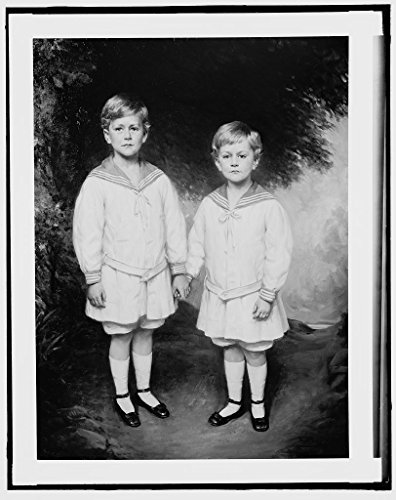 Vintography 16 x 20 Ready to Hang Canvas Wrap Masters Charlie and Bobbie Warren Full-Length Portrait 1916 Detriot Publishing 83a]()