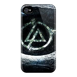 High Quality Mobile Case For Iphone 4/4s With Support Your Personal Customized High Resolution Linkin Park Band Skin ErleneRobinson
