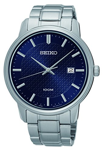 Seiko #SUR193 Men's Stainless Steel Blue Dial Casual Analog Dress Watch by Seiko Watches