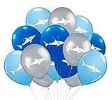 Shark Party Supplies Latex Balloons - Under the Sea/Pool/Beach/Kids Birthday Decorations(36 PCS)