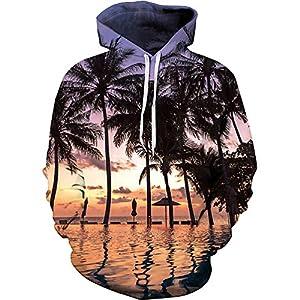 Unisex 3D Novelty Hoodies Easter Galaxy Hoodies Sweatshirt Pockets 22