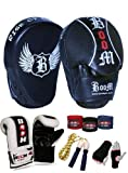 Boom Focus Pads Boxing set,MMA Punch Mitts Hook and Jab with Bag Gloves (FREE UK SHIPPING)