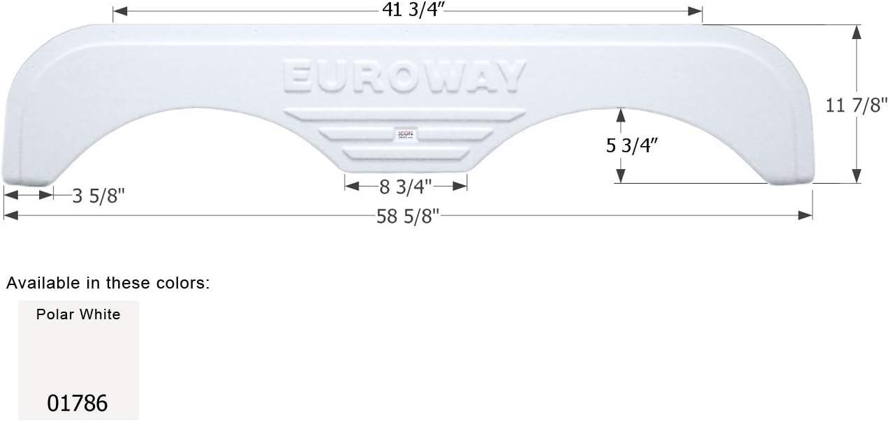 ICON Fleetwood Tandem Fender Skirt FS1786 Polar White