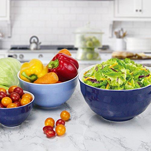 Dowan Ceramic Mixing Bowls Serving Bowl Set Non Slip Soft