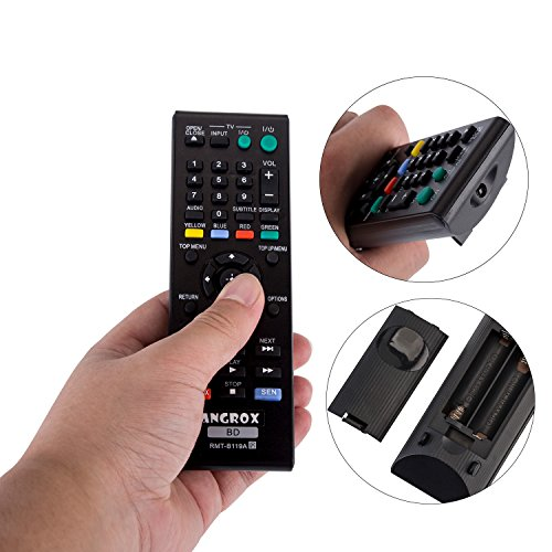 Angrox RMT-B119A Replacement Universal Remote Control for Sony BD Blu ray DVD Player Remote