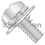 Phillips Pan Split Lock & Regular Flat Washer Sems Fully Threaded Zinc and Baked 4-40 x 1/2 (Box of 10000) weight27.5Lbs