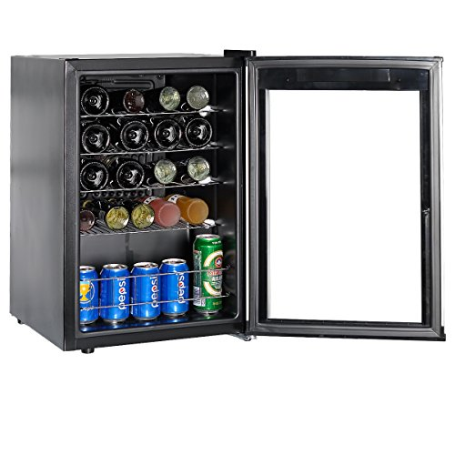 SMETA Wine Cellar Refridgerator with LED Display Counter Top Beverage Beer cooler fridge