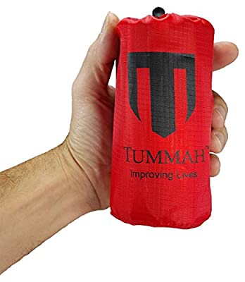 """Tummah Emergency Survival Mylar Thermal Sleeping Bag / Blanket - BONUS - Receive A """"Must Read"""" THE BASIC SURVIVAL GUIDE eBook with Your Order! A $14 Value Absolutely FREE"""