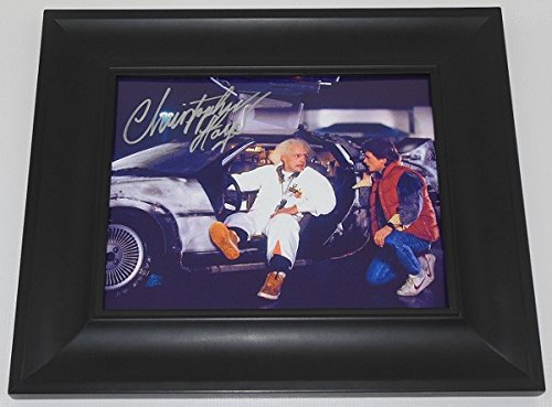 1985 Team Autographed Framed (Back to the Future Doc Brown' Christopher Lloyd Signed Autographed 8x10 Glossy Photo Gallery Framed Loa)