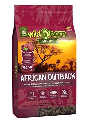 Wildborn Getreidefreies Hundefutter mit Straußenfleisch African Outback 15 kg   Gesundes Trocken-Futter mit hohem…