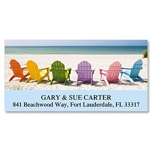 Tropical View Self-Adhesive, Flat-Sheet Deluxe Address Labels