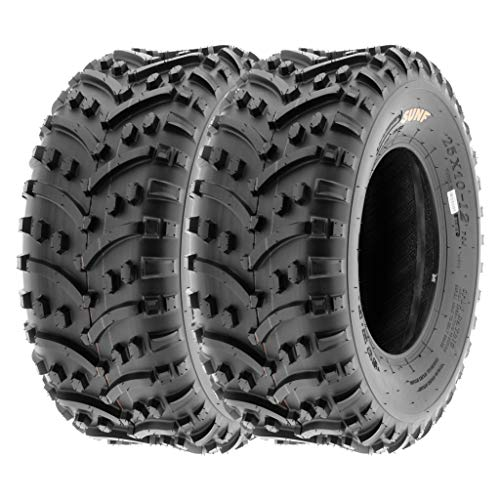 SunF 22x11-8 22x11x8 ATV UTV A/T All Trail Race Replacement Tubeless Tires A032, [Set of 2]