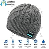 HighTechLife Upgraded Wireless Bluetooth Beanie Hat Headphones V4.2 Unique Christmas Tech Gifts for Men/Dad/Women/Mom/Teen Boys/Girls Stocking Stuffer w/Built-in HD Stereo Speakers & Microphone