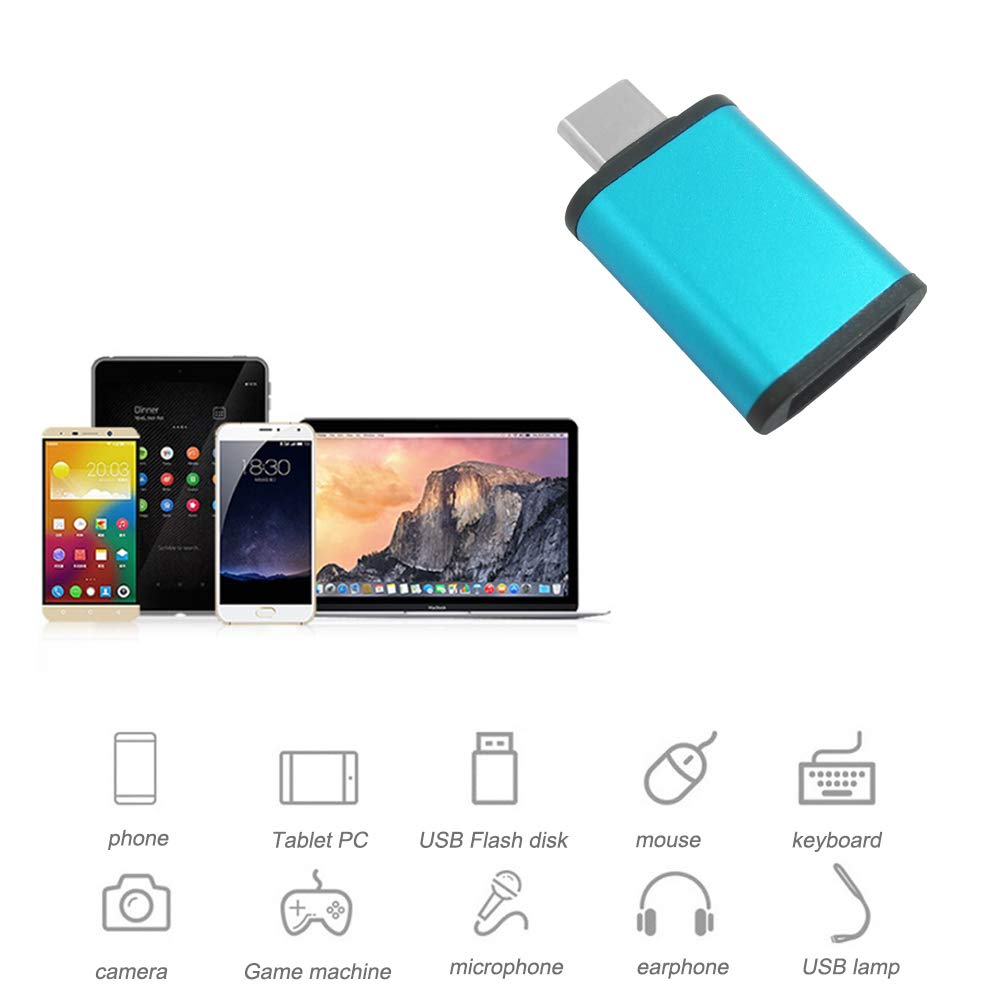 4 Assorted Colors USB C to USB 3.0 Adapter Galaxy S10 S9 S8 Note 9 and More Type-C Devices DaKuan Aluminum Thunderbolt 3 to USB Adapter Compatible with Mac Book,Dell XPS
