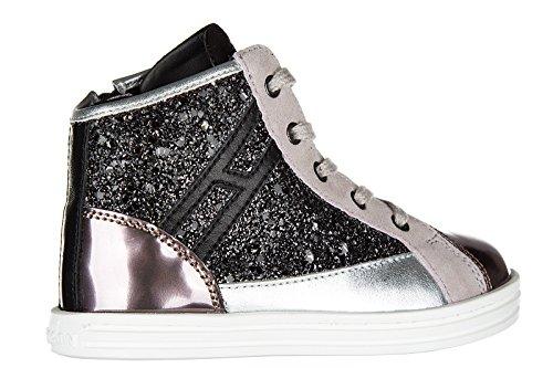 Hogan Rebel BabyschuheSneakers Kinder Baby Schuhe Mädchen Leder High Turnschuhe