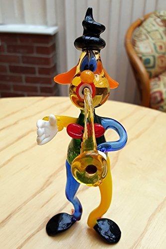 Circus Clown Playing Saxophone Multiple Colors Murano Art...