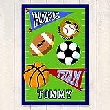 Kids Sports Themed Art Print w Football Field Design - Game On