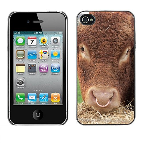 Premio Sottile Slim Cassa Custodia Case Cover Shell // F00001979 vache // Apple iPhone 4 4S 4G