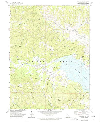 YellowMaps Grizzly Valley CA topo map, 1:24000 Scale, 7.5 X 7.5 Minute, Historical, 1972, Updated 1974, 26.7 x 21.9 in - Paper