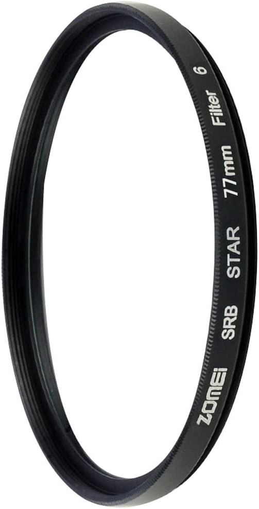 Zomei 6 Points Star Filter for Canon Nikon Cameras-77mm