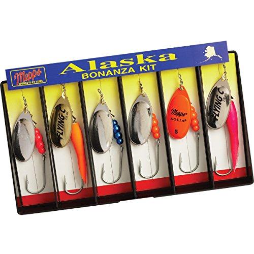 5001104 Mepps Alaska Bonanza Kit - Plain Single Hook Lure Assortment