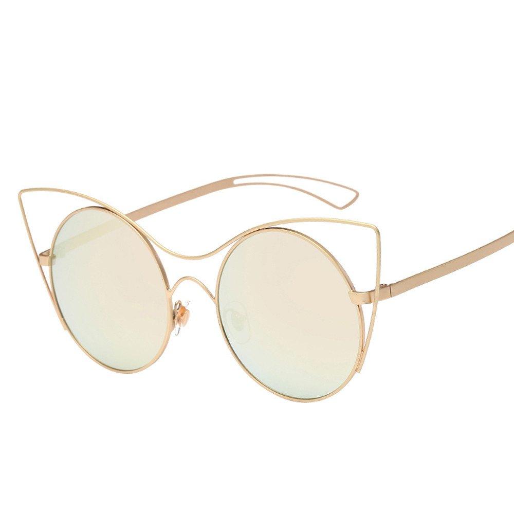 MenS Pattern Border Sunglasses Birthday Gifts Unisex Anti-Uv Cat Eye Sunglasses Outdoor Sports Goggles