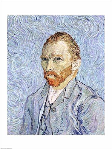 Self Portrait, 1889 by Vincent Van Gogh Laminated Art Print, 17 x 22 inches