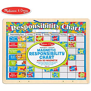 Amazon com: Melissa & Doug Magnetic Responsibility and Chore Chart