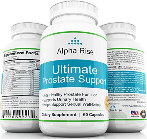 TOP RATED Prostate Supplement - Best Prostate Health Supplement - Saw Palmetto + Pyguem with Natural Herbs and Vitamins - Support BPH Urinary Tract Infection Men Frequent Urination - 100% - Rates Shipping Canada