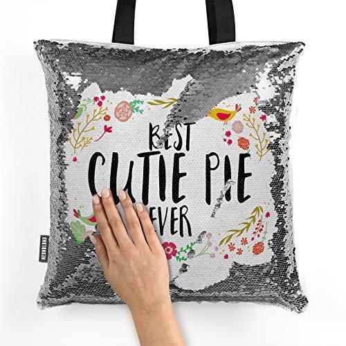 NEONBLOND Mermaid Tote Handbag Happy Floral Border Cutie Pie Reversible Sequin