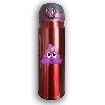 Purple Unicorn Poop Emoji Funny Print Stainless Steel Insulated Water Bottle 763070cc1